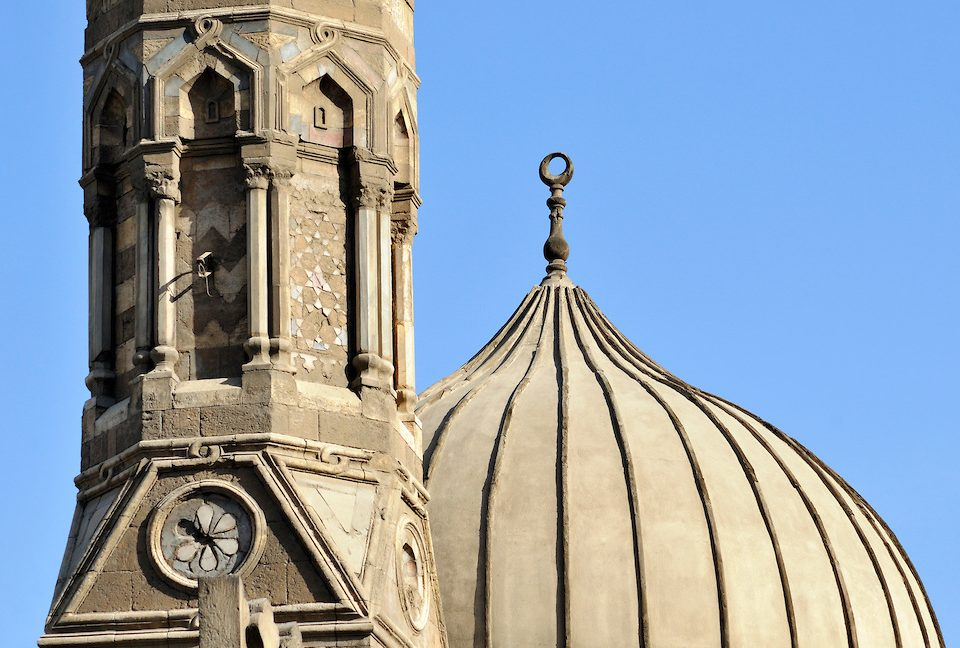 Detail of Minaret and Dome, Mosque of Al-Azhar, Islamic Cairo, Egypt (c) Petr Svarc, 2009